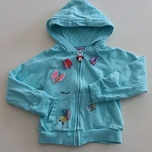 Disney Minnie Mouse blue hoodie with butterflies